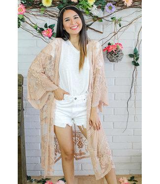 Cherish The Sun Kimono (in Blush)