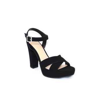 Just a Crush Platform Heel (in Black)
