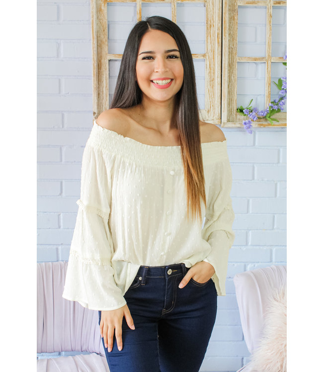 Country Girl Top (in Ivory)