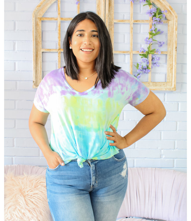 Don't Be Basic Tee (in Vibrant Tie-Dye)