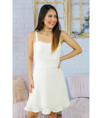 Yours Truly Dress (in White)