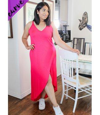 Fierce in Fuchsia Maxi Dress