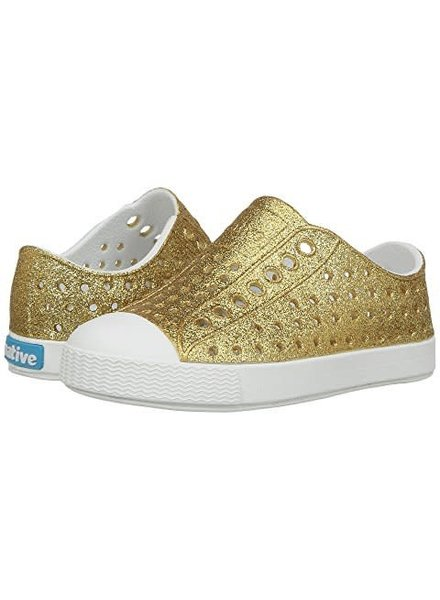Native Shoes Jefferson Bling Gold/Shell White