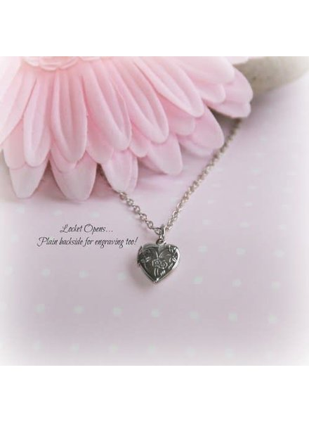 Collectables America RH-12 Rhod Heart Locket Necklace