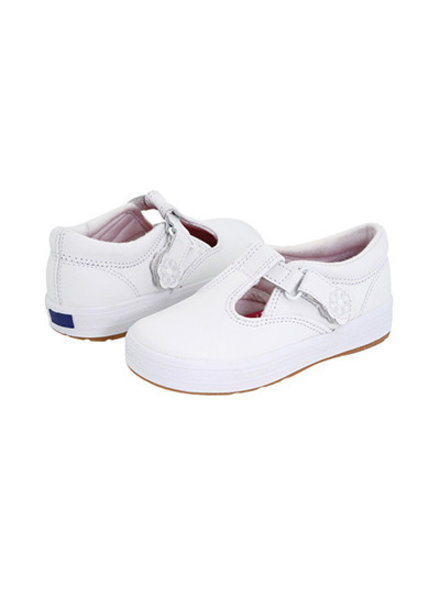 Keds KT30087 Daphne T Strap {White Leather}