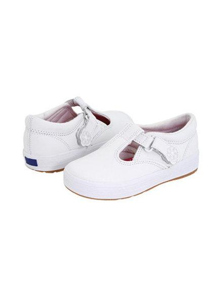 Keds KT30087 Daphne T Strap {White Leather}