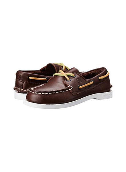 Sperry Top-Slider A/O Lace-Up {Brown Leather}