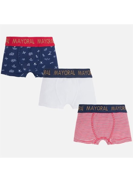 Mayoral Printed and Solid Boxers Set {2 Color Options}