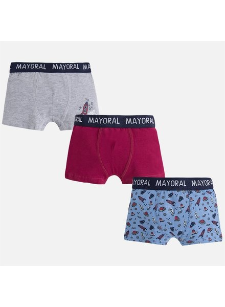 Mayoral Printed Boxer 3 Pack {2 Color Options}