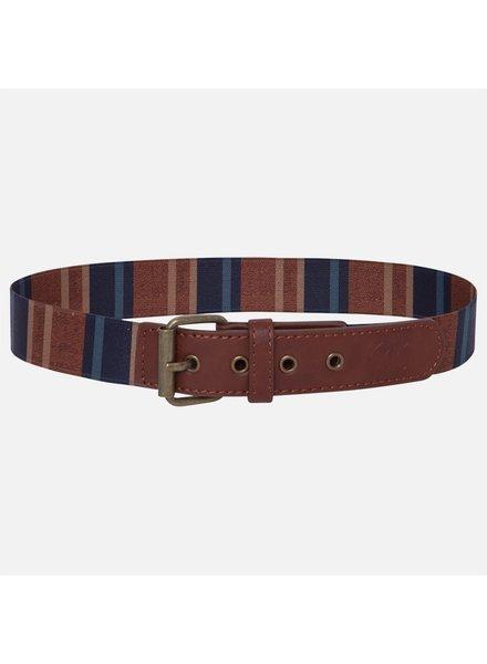 Mayoral Striped Belt {Brown/Navy}