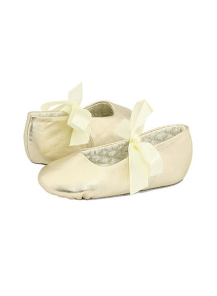 Sabrina Leather Ballet Flats - Crib {Gold}