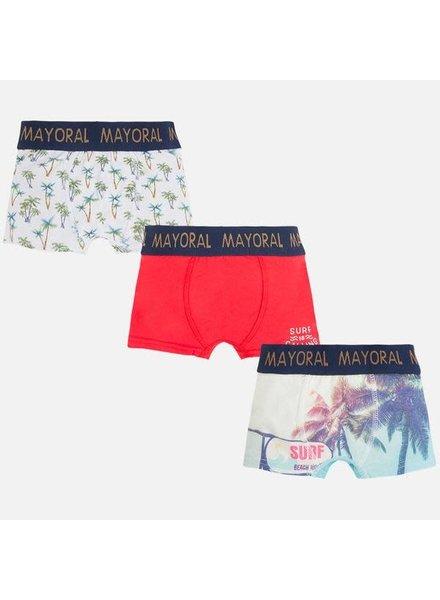 Mayoral 3pc Set Printed Boxer {Hibiscus}
