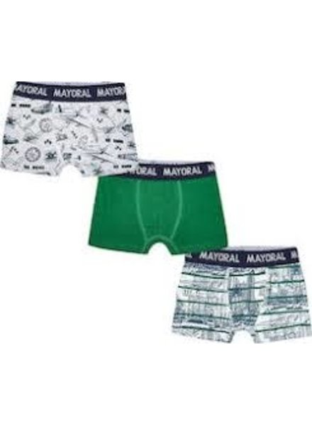 Mayoral 3Pc Set Printed Boxers {3 Color Options}