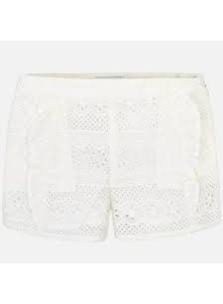 Mayoral Floral Lace Shorts