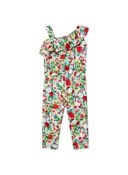Mayoral Long Floral Printed Romper