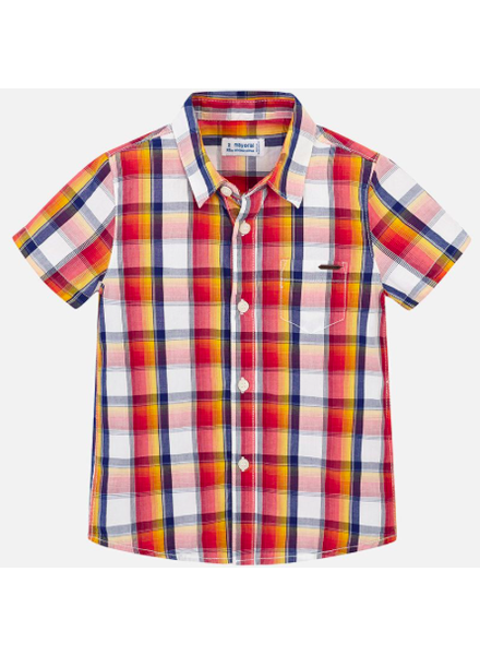 Mayoral Checked S/S Shirt