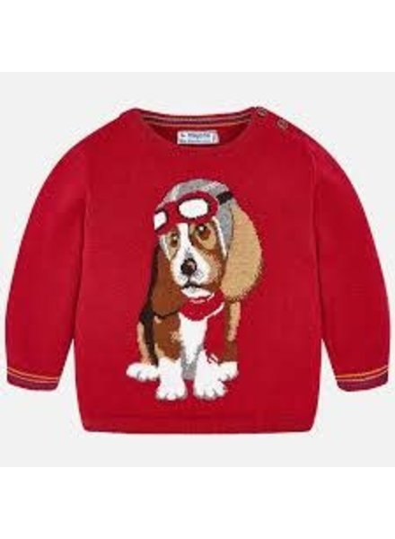 Mayoral Red Puppy Sweater