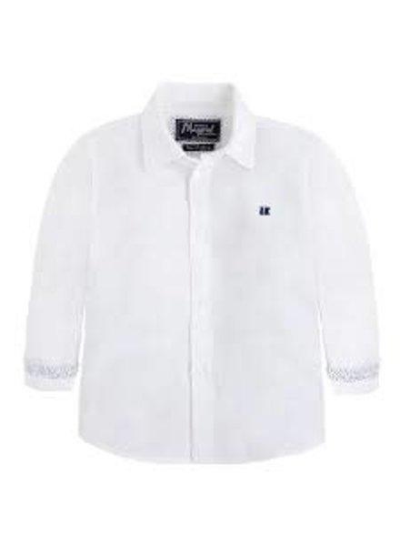 Mayoral Basic Linen Shirt {White}