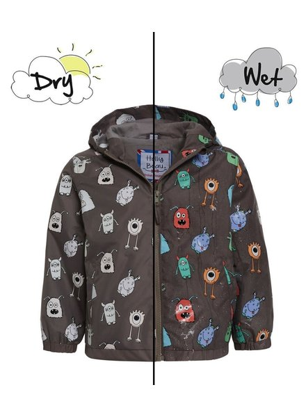 Holly & Beau Monster HB Magic Color Changing Raincoat (B){Gray}