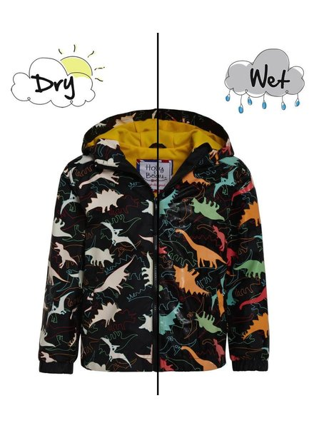 Holly & Beau Dinosaur Magic Color Changing Raincoat (B) {Black}