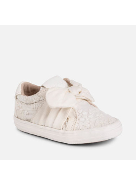 Mayoral Ivory Knit Trainers
