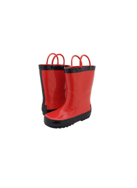 Timbee Red & Navy Rain Boots