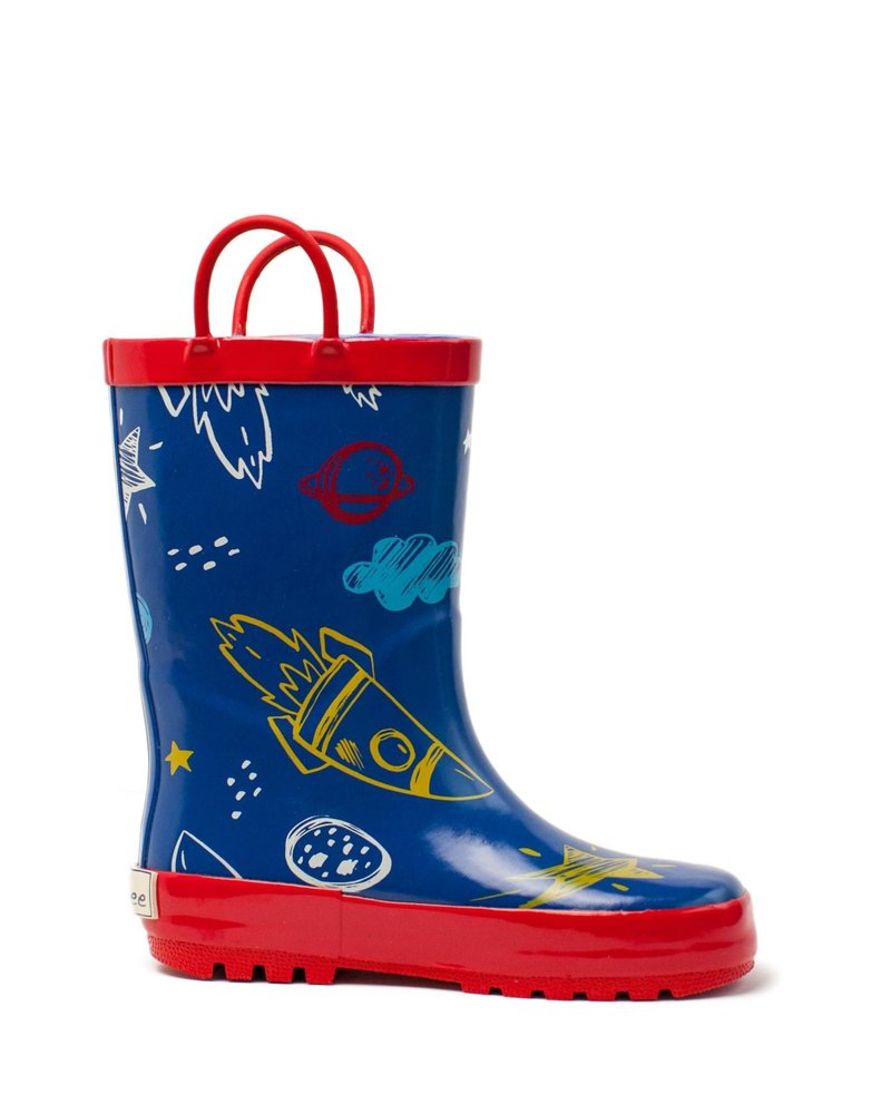 Timbee Rocket Ship Rain Boots