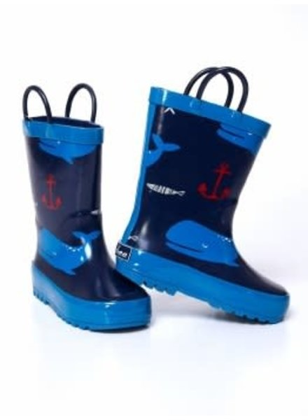 Timbee Nautical Rain Boots