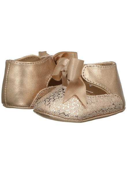Baby Deer Metallic PU Ankle Strap w/ Bow