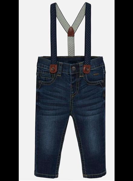 Mayoral Denim Pants w/ Suspenders