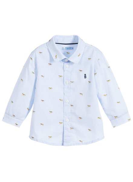 Mayoral Light Blue Horse Shirt
