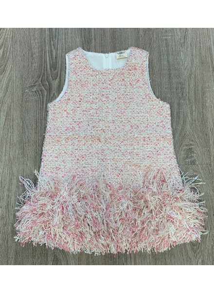 M.L. Kids Dress With Fringe