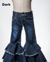 M.L. Kids Double Ruffle Bell Bottom Denim Jeans