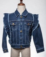 M.L. Kids Denim Fringe Jacket