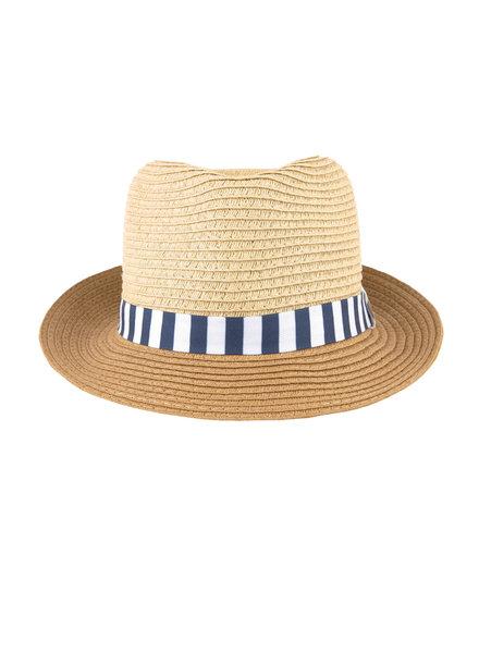 Mayoral Fedora w/ Blue Stripe