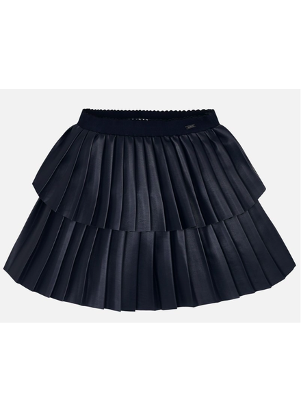 Mayoral Leather Pleated Skirt