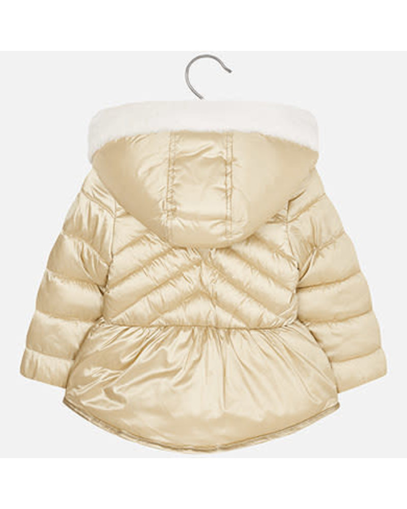 Mayoral Gold Puff Coat w/ Hood