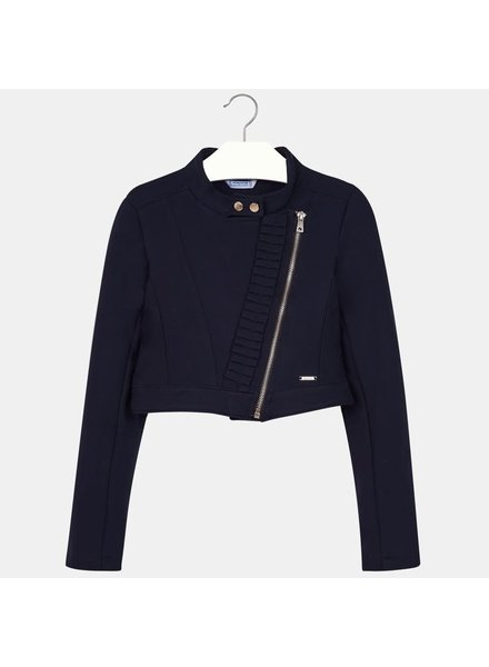 Mayoral Knit Jacket With Ruffles