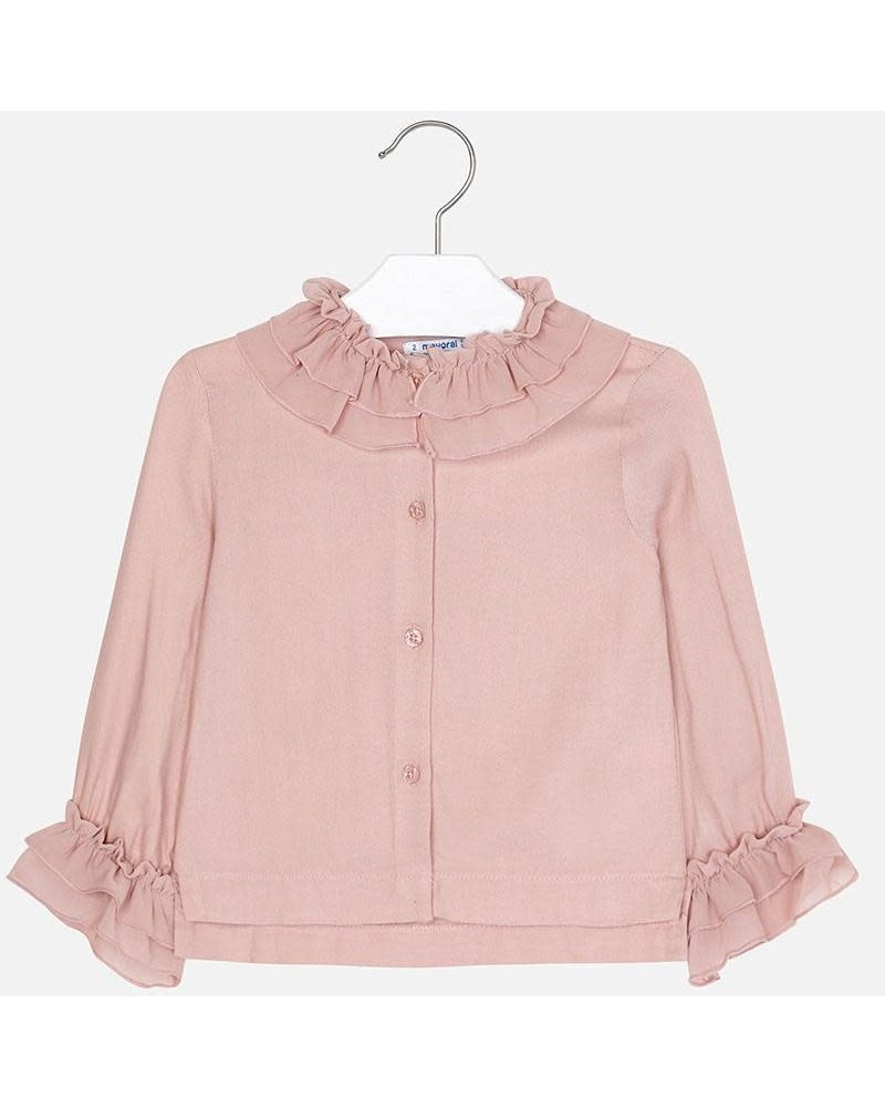Mayoral Blouse with Chiffon Neck