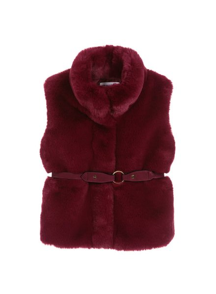 Mayoral Fur Vest With Belt