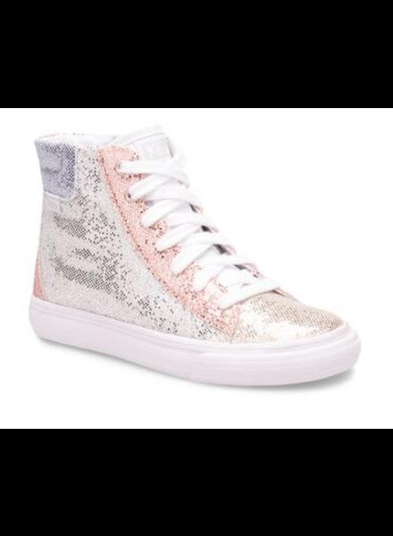 Keds Hightop Sparkle {Silver/Pink}
