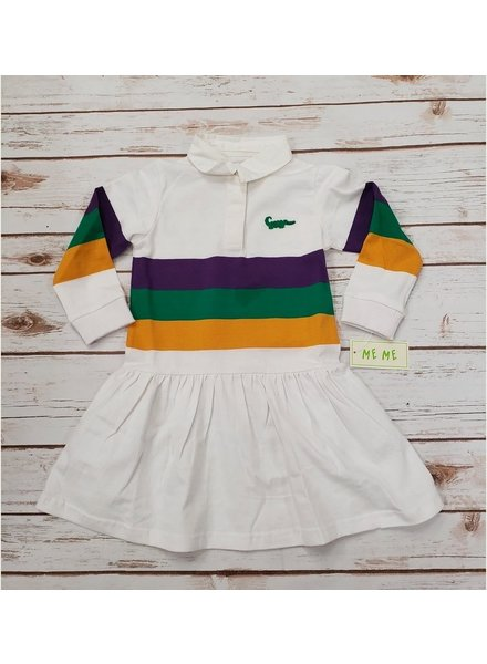 Me Me Mardi Gras Penny (Drop Waist) Dress Infant