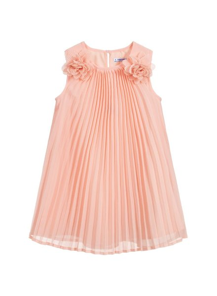 Mayoral Pleated Flowers Dress