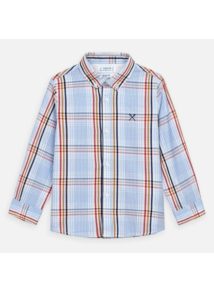 Mayoral Plaid Button Shirt