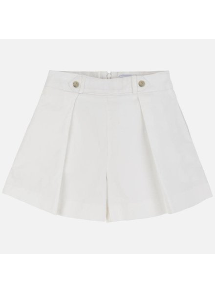 Mayoral White Satin Shorts
