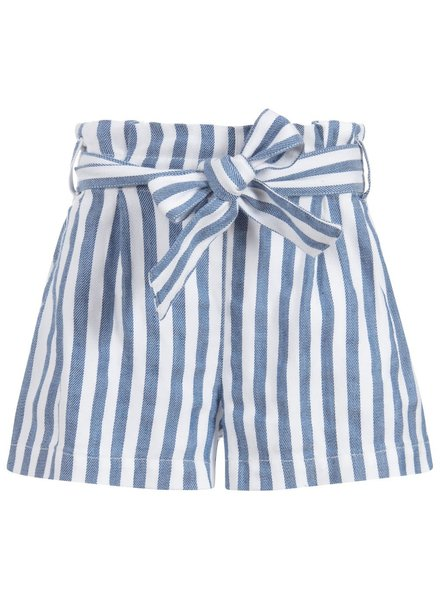 Mayoral Chambray Striped Shorts