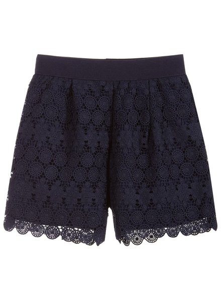 Mayoral Navy Lace Shorts