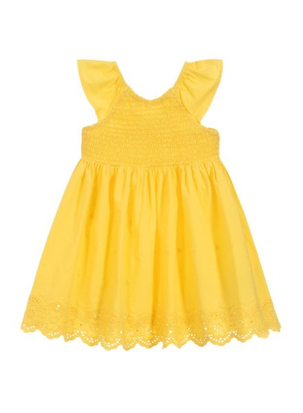 Mayoral Yellow Embroidered Dress