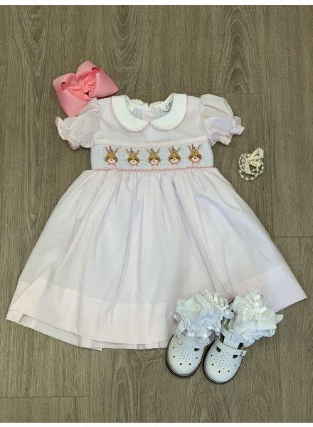 Bunny Smock Dress Pink