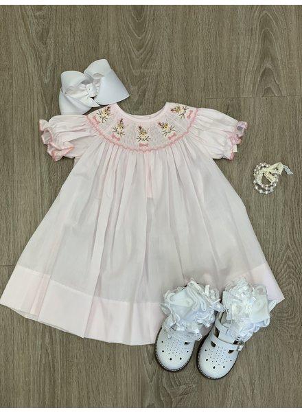 Bunny Smock Dress Pink w/ Bunny